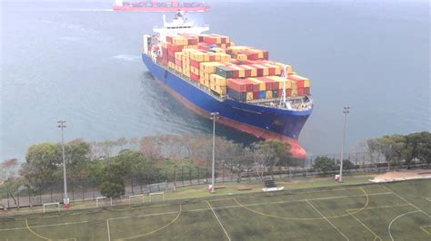 Ship Football by Container Ship Sails Straight To Shore By University