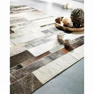 tapis en cuir beige 80 x 300 cm arty With tapis de couloir avec canapé bz maison du monde