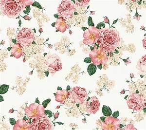 Pink Vintage Floral Wallpaper   WallMaya.com