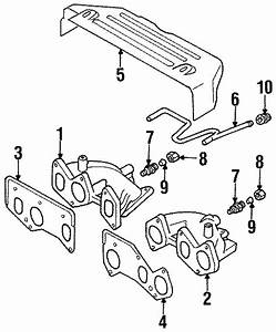 Volkswagen Jetta Adapter  2 0 Liter  2 8 Liter  Exhaust  System  Manifold  Group  Components