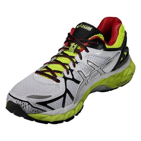 Kasut Asics Gel Kayano asics mens gel kayano 21 running shoes white yellow