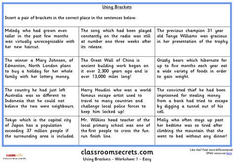 using brackets ks2 spag test practice classroom secrets