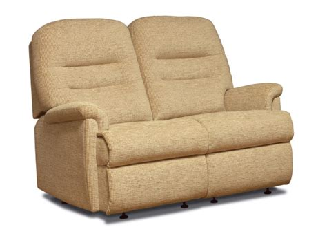 Small 2 Seater Settees by Keswick Small Fabric Fixed 2 Seater Settee Sherborne