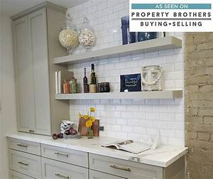 gray kitchen cabinets with floating shelves diamond With design your kitchen floating kitchen shelves