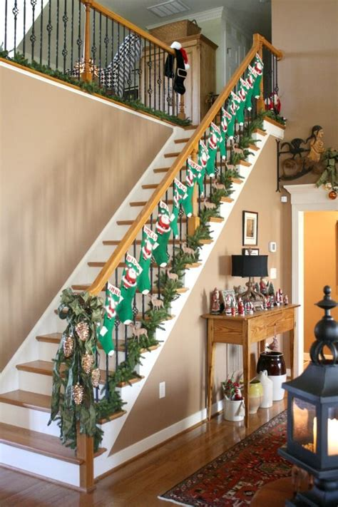 christmas decoration ideas stair railing psoriasisgurucom