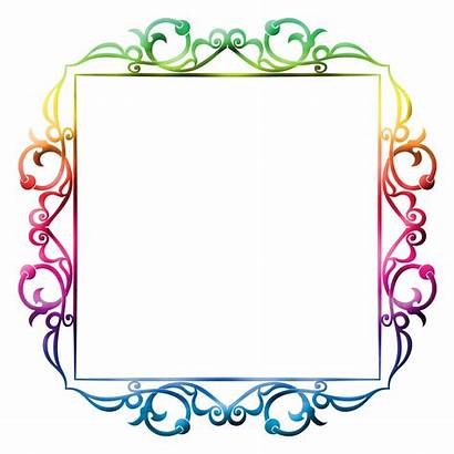 Frame Colorful Clipart Frames Background Domain Clip