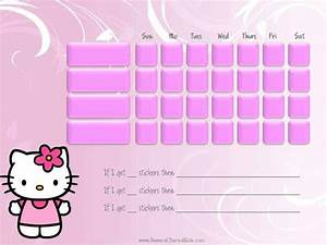 free printable potty chart hello kitty behavior chart