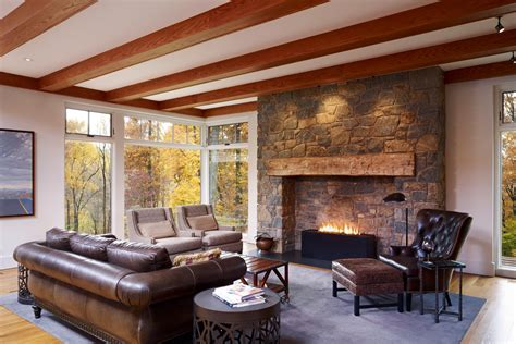 Fireplace Mantels Ideas Living Room Farmhouse With Ceiling