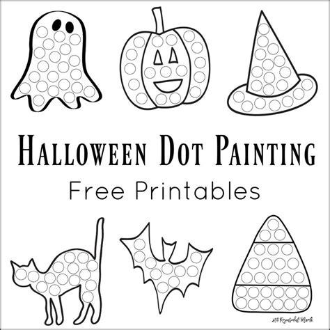 halloween dot painting  printables  resourceful