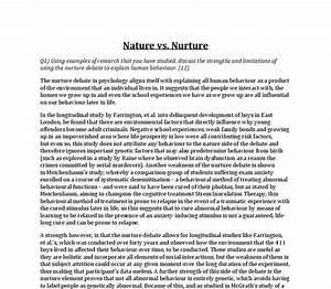 Nature Nurture Debate Essay School Shooting Essay Nature Vs Nurture  Nature Nurture Debate Sociology Essay Example Examples Of Autobiography  Essays