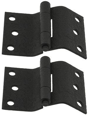 pair  forged iron offset mortise shutter hinges