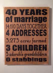 50th wedding anniversary gift ideas for parents wedding anniversary gifts 40th wedding anniversary gifts to parents