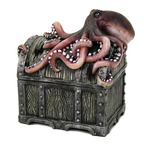 pirate chest  octopus pirate gifts housewares