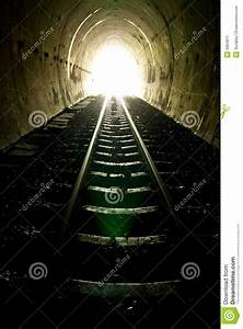 Light At The End Of Train Tunnel Stock Image