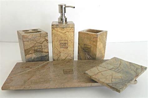 Luxury Stone Bath Accessory Collection Set Bed Bathroom