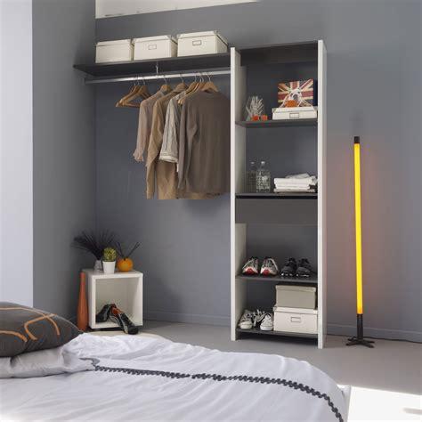 penderie chambre kit aménagement placard 180 cm 1 tiroir 1 penderie 301600