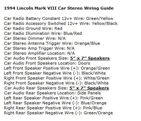 Lincoln Mark Viii Questions Change Tape Deck