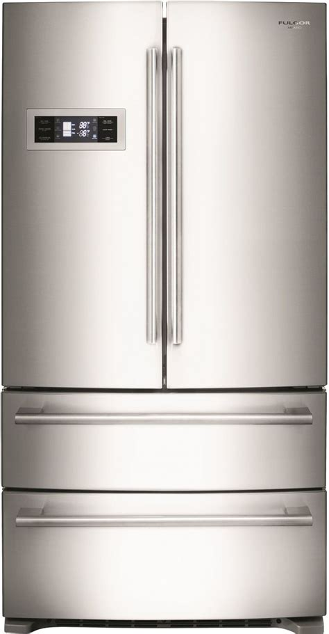 fulgor milano  series  cu ft counter depth french door refrigerator stainless steel