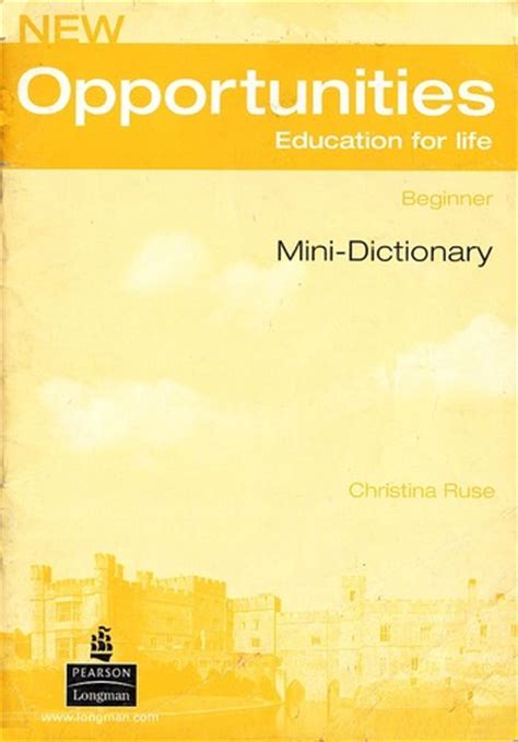 opportunities education  life mini dictionary
