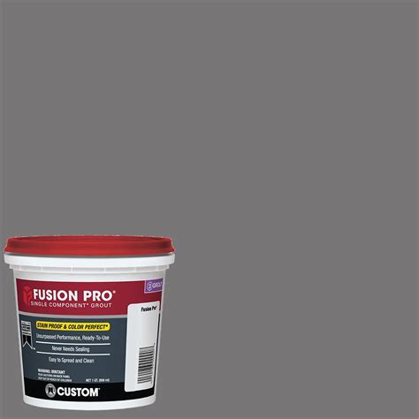 pewter grout custom building products fusion pro 19 pewter 1 qt single component grout fp19qt 4 the home