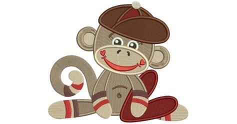 sock monkey  boy filled machine
