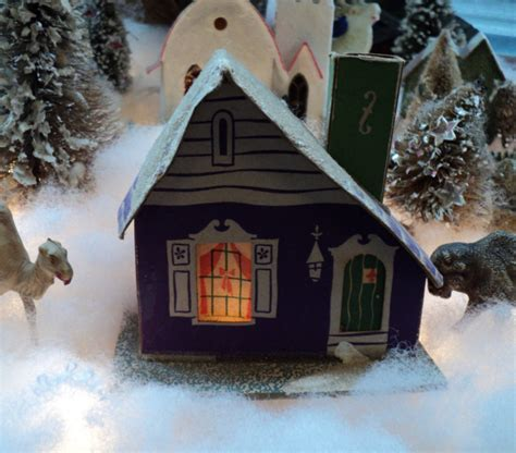 Vintage Christmas Village Houses  Happy Holidays