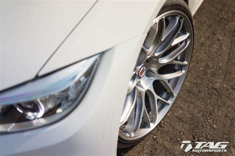 alpine white bmw   hre rc custom wheels