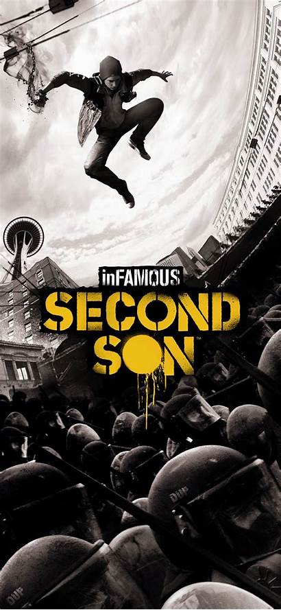 Son Second Infamous Wallpapers Poster Deviantart Games