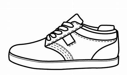 Coloring Shoes Pages Vans Printable Colouring Tennis