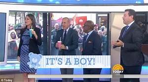 Savannah Guthrie reveals she is having a baby boy live on ...