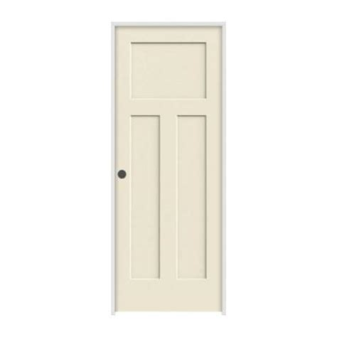 jeld wen interior doors home depot jeld wen 36 in x 80 in molded smooth 3 panel craftsman primed white solid composite