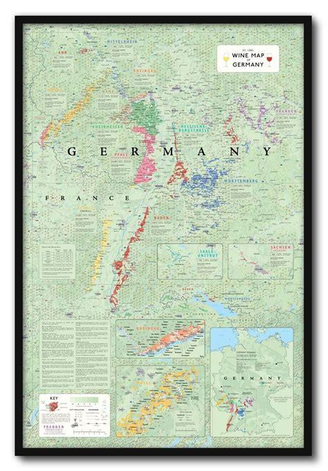 wine map  germany