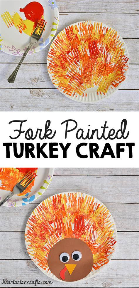 fork painted turkey craft for thanksgiving crafts 773 | 6871e199343cec70424385706551a87c