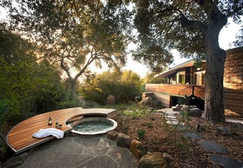 japanese garden tub pool contemporary with spa