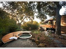 japanese garden hot tub pool contemporary with spa