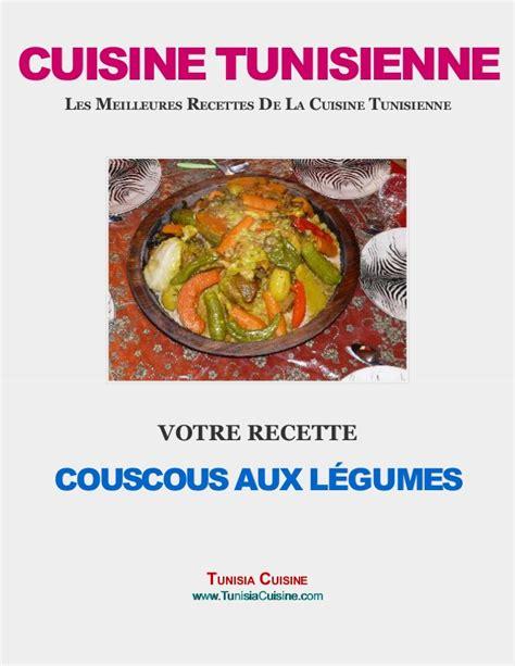 recttes cuisine couscous tunisien aux légumes