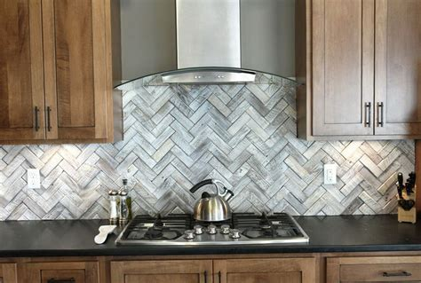 subway tile backsplash herringbone pattern home design ideas