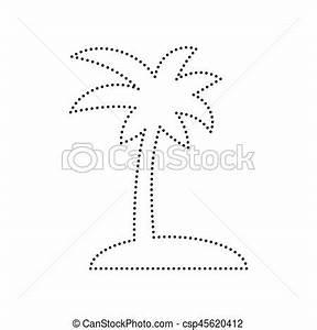 Coco Point Fr : noix coco pointill isolated signe arbre arri re plan paume vector noir blanc ic ne ~ Medecine-chirurgie-esthetiques.com Avis de Voitures