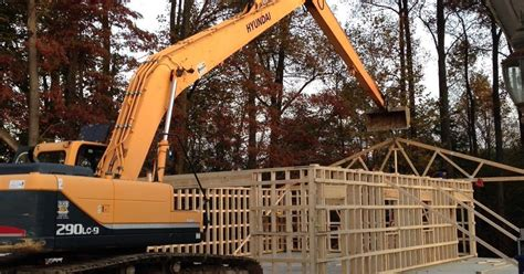 oversized excavator reaches   competition onsite installer