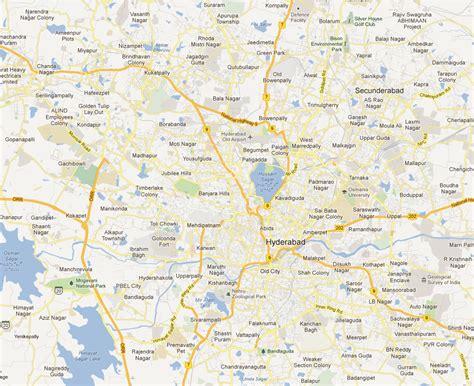 hyderabad map map  hyderabad city maps hyderabad