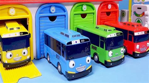Tayo Garage by Tayo The Garage Gas Station Toys 타요 버스 중앙차고지와