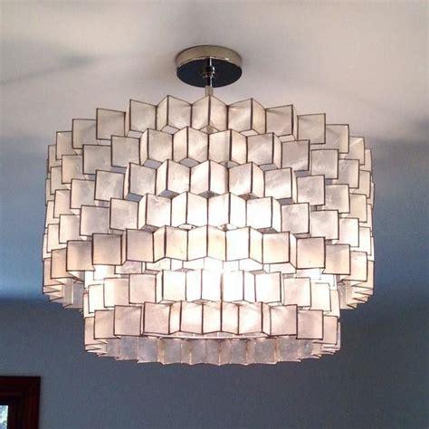 capiz zig zag chandelier white home sweet home