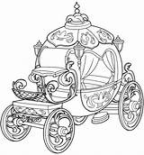 Cinderella Carriage Coloring Princess Pages Getdrawings sketch template
