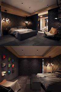 Dark color bedroom decorating ideas shows a luxury and for Interior decorating dark rooms
