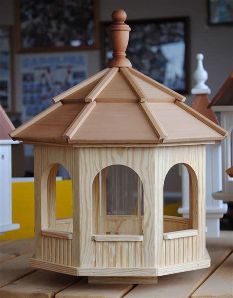 large octagon wooden birdfeeder wooden birdhouses