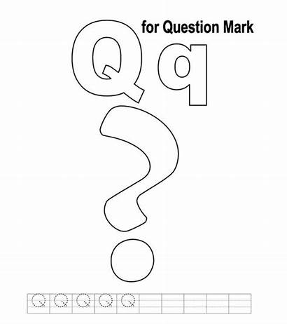 Letter Coloring Question Printable Colouring Momjunction Toddler