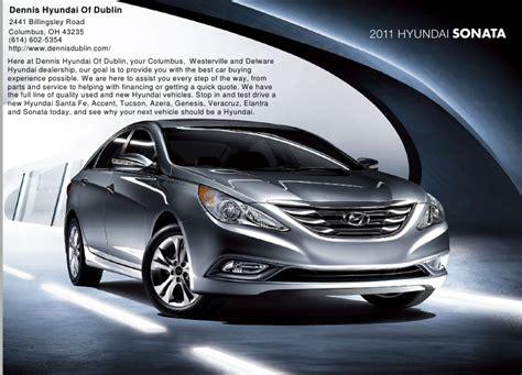 Dennis Hyundai Dublin by 2011 Hyundai Sonata Brochure Dennis Hyundai Of Dublin