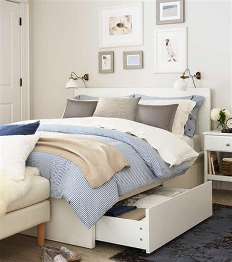 chambre ikea malm malm structure de lit avec rangement grand 2 places