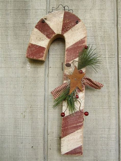 candy cane christmas decor primitive candy cane rustic