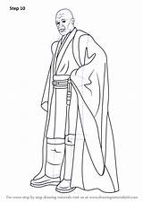 Coloring Printable Mace Windu Star Wars Draw Pdf Sci Fi Drawing Halo Zip sketch template